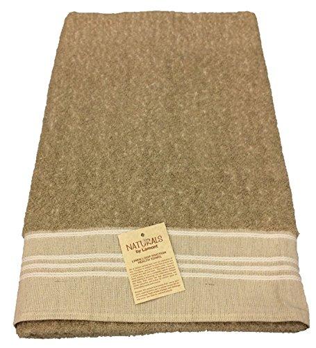 Undyed Linen - Gerbrend Creations Lamont Undyed Irish Linen Terry Friction Bath Towel, 28 x 54