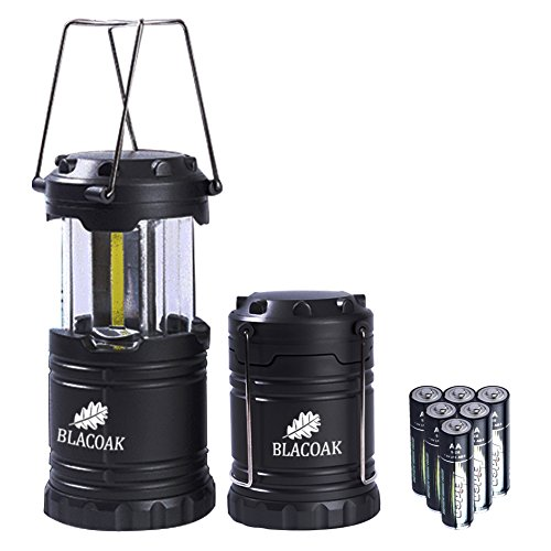 Blacoak 2 x Blacoak Super Brightness Camping Lamp , 300LM Collapsible Camping Light, Small Size Outdoor LED Light Latern Lamp by Blacoak