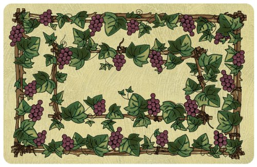 Bungalow Flooring 2 by 3-Feet Surfaces Floor Mat, Grapevine