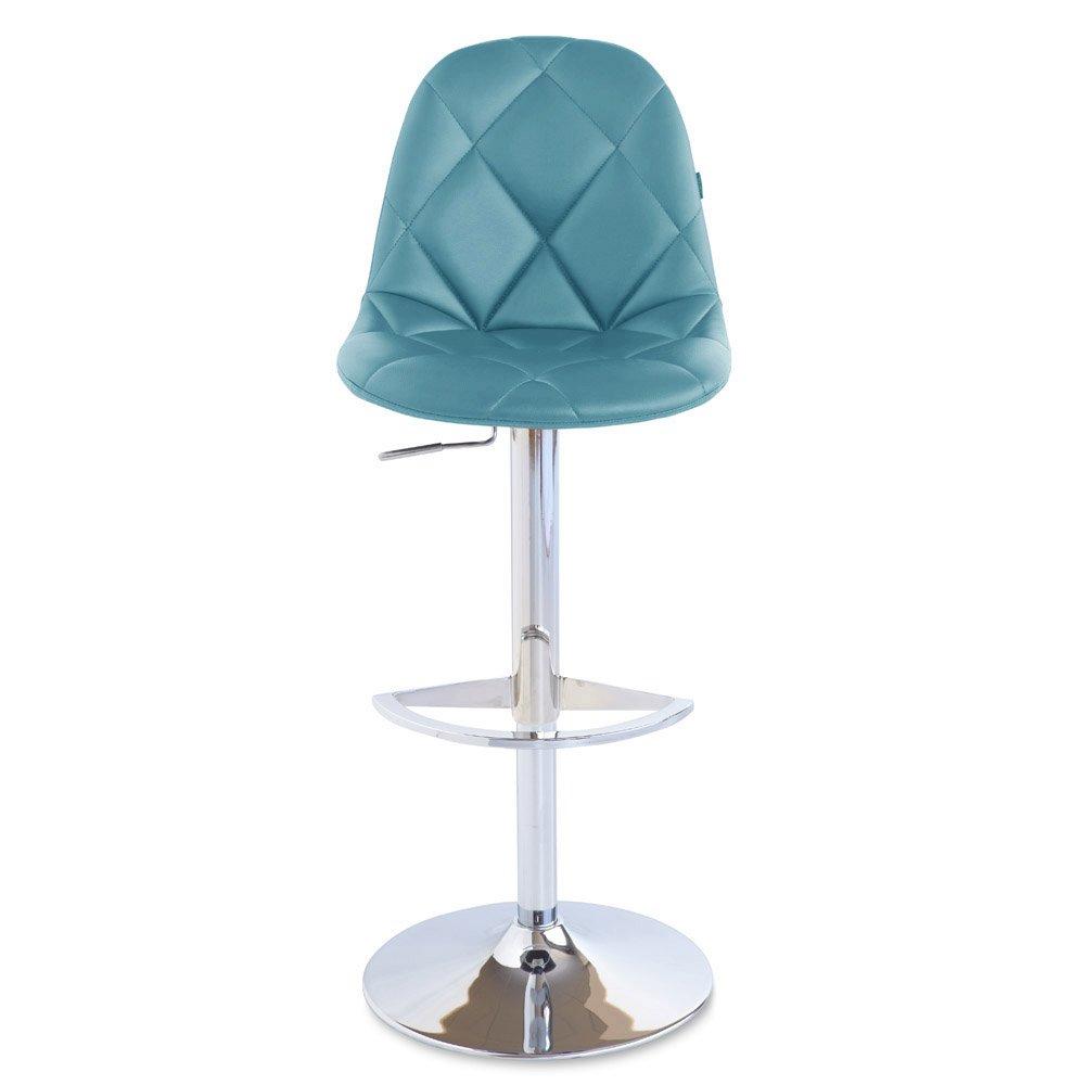 Amazon com zuri furniture teal romy adjustable height swivel armless bar stool kitchen dining