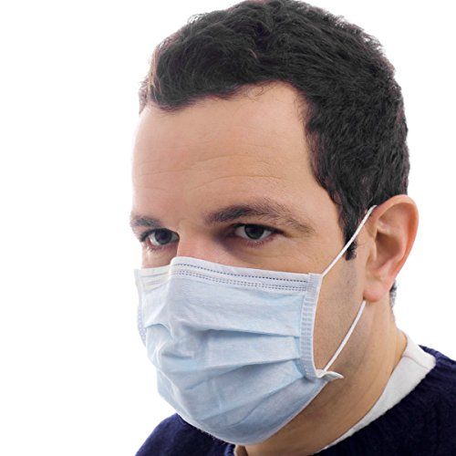 150 Disposable Earloop Face Masks Medical Germ Dust Protection Healthcare Supply -