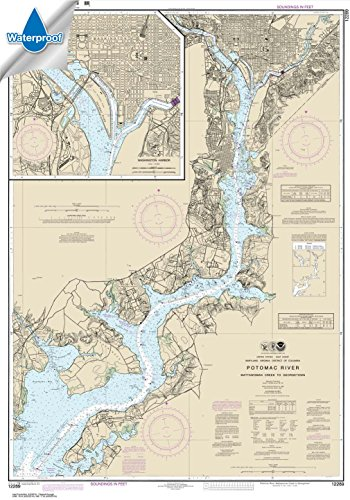 NOAA Chart 12289: Potomac River Mattawoman Creek to Georgetown; Washington Harbor 30 x 42.8 (WATERPROOF)
