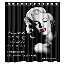 Custom Marilyn Monroe Quote Waterproof Bathroom Shower Curtain Polyester Fabric Shower Curtain Size 66 X 72 by Shower Curtain