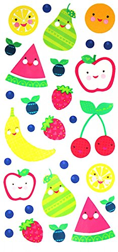 Spestyle Waterproof and nontoxic Fake temporary tattoo stickers for kids, carton tattoos including many fruits such as watermelon,pear,apple,strawberry,orange,bananer,etc.