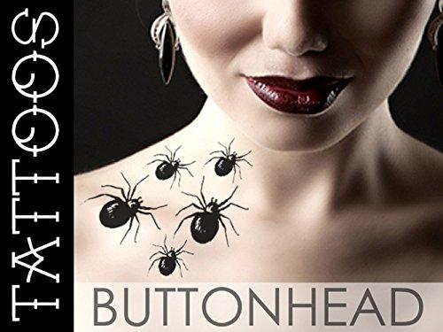 Spider Temporary Tattoo - Halloween Costume Fake Tattoo - Creepy Disturbing Sexy - Makeup (Creepy Halloween Makeups)