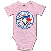 Toronto Blue Jays Pink BABY Cartoon Short Sleeves Variety Baby Onesies Creeper For Toddler Size 12 Months