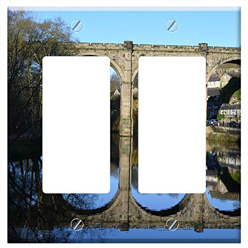 (Switch Plate Double Rocker/GFCI - Old Railway Bridge Architecture History)