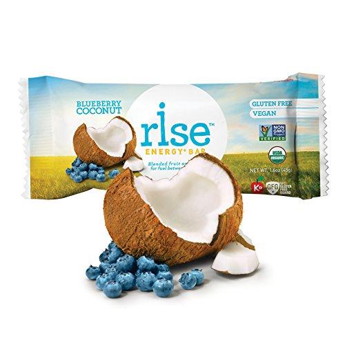 Rise Bar Organic, Vegan Energy Bars, Blueberry Coconut, 1...