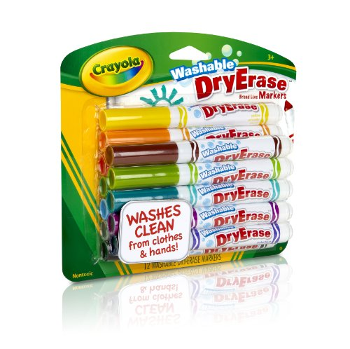 Crayola 12 Ct Washable Dry Erase Markers(Discontinued by manufacturer) by Crayola (Image #1)