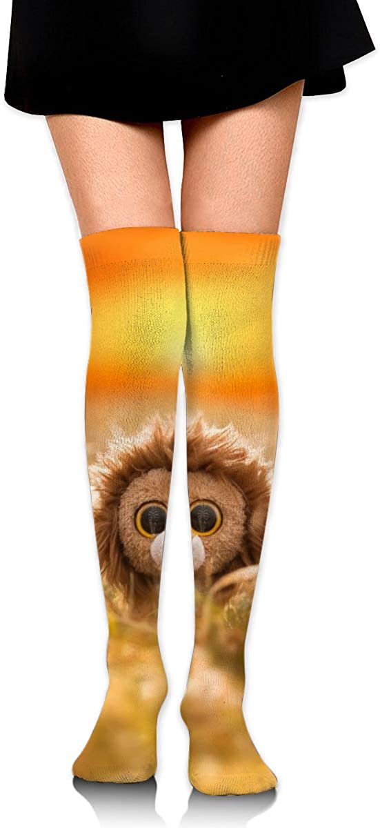 Women Crew Socks Thigh High Knee Lion Toy Long Tube Dress Legging Casual Compression Stocking