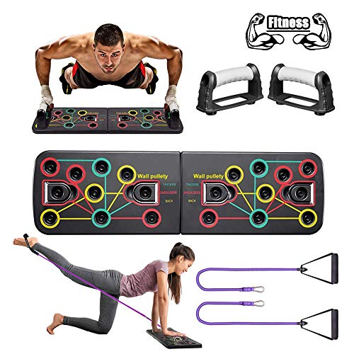 Yoophane Push Up Board, 13 in 1 Multifunction Press Up Board, Gym Home Workout Equipment Strength Muscle Push Up Bars…