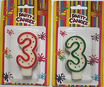 Amazon Colorful Dots Numeral Dgit Party Cake Birthday Candles