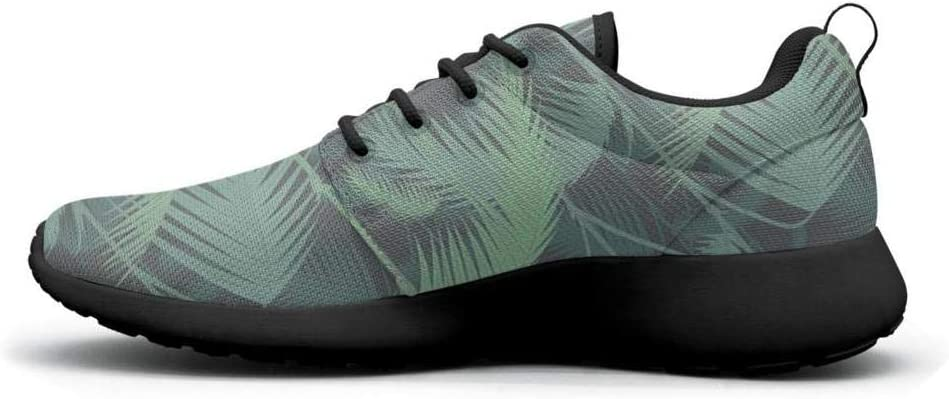 Gjsonmv Palm Sunday Palm Tree Pattern Green mesh Lightweight Shoes for Women Summer Sports Trail Running Sneakers Shoes