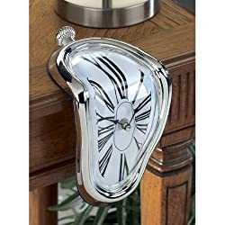 Westminster Melting Time Warp Shelf Clock - Unique Home & Office Conversation Piece