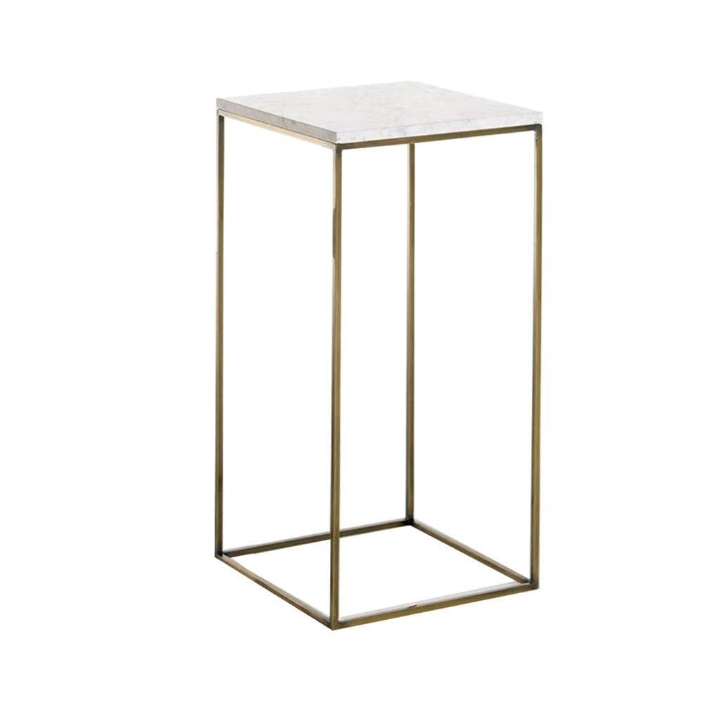 XZG 創造的なゴールデンベッドサイドテーブル、リビングルーム複数の側面大理石の小さなコーヒーテーブルコーナーいくつかの小さな正方形のテーブルアイアンアート装飾テーブルサイドテーブル読書テーブル交渉テーブル シンプルな人生を創造する (色 : ゴールド, サイズ さいず : 34 * 34 * 74cm) B07G2QHNKV ゴールド 34*34*74cm