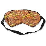 Orange Camo Artistic Illustration Sleep Eyes Masks - Comfortable Sleeping Mask Eye Cover For Travelling Night Noon Nap Mediation Yoga