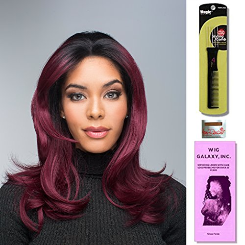 Red Carpet by Revlon, Wig Galaxy Hair Loss Booklet, Wig Cap & Magic Wig Styling Comb/Metal Pick Combo (Bundle - 3 Items), Color Chosen: Sunkiss (Hair Wigs Revlon)