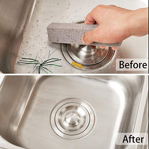 20 Pack Pumice Stones for Cleaning - Pumice Scouring Pad, Grey Pumice Stick Cleaner for Removing Toilet Bowl Ring, Bath, Household, Kitchen, Pool, 5.9 x 1.4 x 0.9 Inch (20 Pack) by Norme (Image #3)