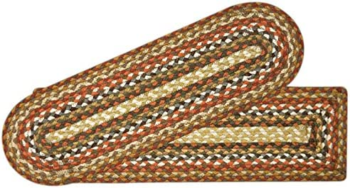 Earth Rugs Stair Tread, 8.25 x 27 , Honey Vanilla Ginger