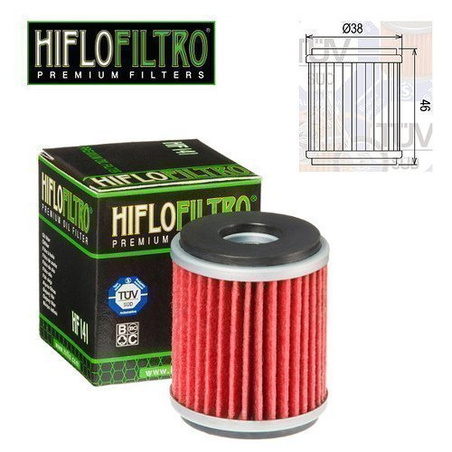 Engine Oil Filter Hiflo HF141 for Yamaha YZF R125 2014 FAR