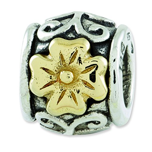 Argent Sterling réflexions SimStars 14 carats Perle-JewelryWeb Motif Floral