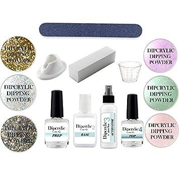 Amazon com : SHEBA NAILS Dipcrylic Glitter Dip Dipping