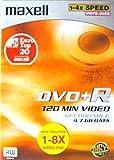 Maxell  DVD vierge à graver vitesse4x DVD+R 120min 4,7Go de données