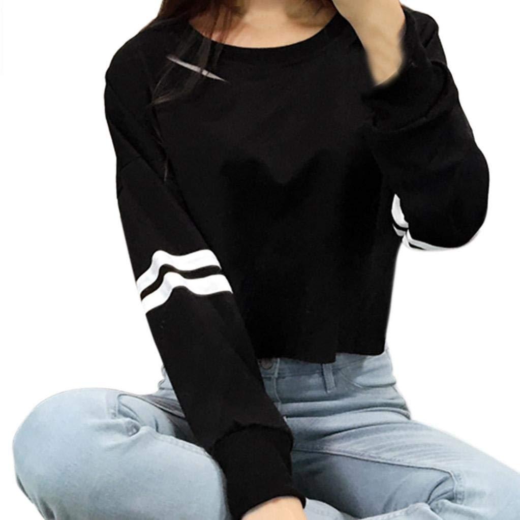 MEIbax Women Girl Hollow Short Sweatshirt Jersey de Manga Larga Jumper Pullover Tops: Amazon.es: Ropa y accesorios