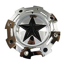 KMC XD Rockstar 2 SC-198CHR SC-190 Chrome Center Cap with Black Star