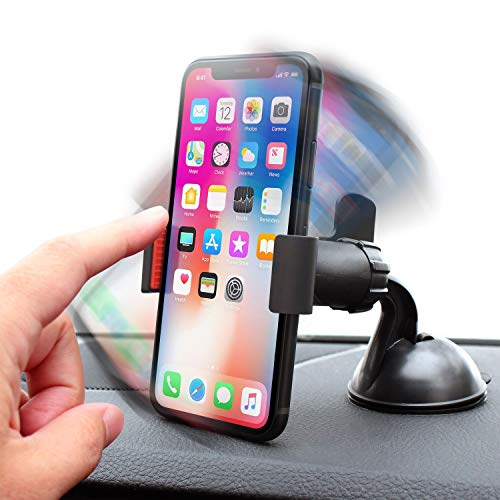 - Insten 360-degree Swivel Clip Universal Car Mount Phone Holder Compatible with Google Nexus, iPhone X/XS/XS Max/XR /8/8 Plus/7/7 Plus/6S, Galaxy S10/S10 Plus/S10e Note 8 9/S9/S9+ Plus Black