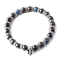 Perepaix RAVE Mens Bracelet Shamballa Blue Parrot Beads