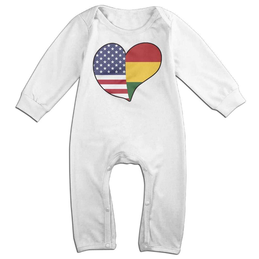 TYLER DEAN Baby Boy Girl Coverall USA Rasta Flag Heart Baby Rompers