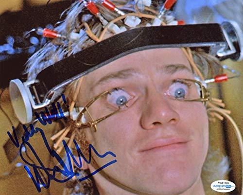 Mcdowell Autograph - Malcolm McDowell