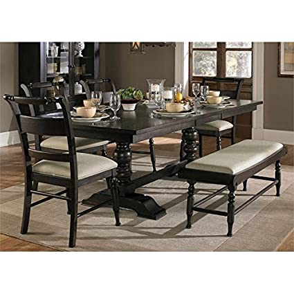 Sensational Amazon Com Liberty Furniture Whitney 6 Piece Trestle Caraccident5 Cool Chair Designs And Ideas Caraccident5Info