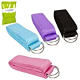 Rory Tory Cute 4pc Multicolored Yoga Cotton Strap w/D Ring Buckle Accessory Set by RoryTory