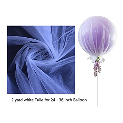 Amazon White Tulle Balloon Net For 24 36 Inch Balloons
