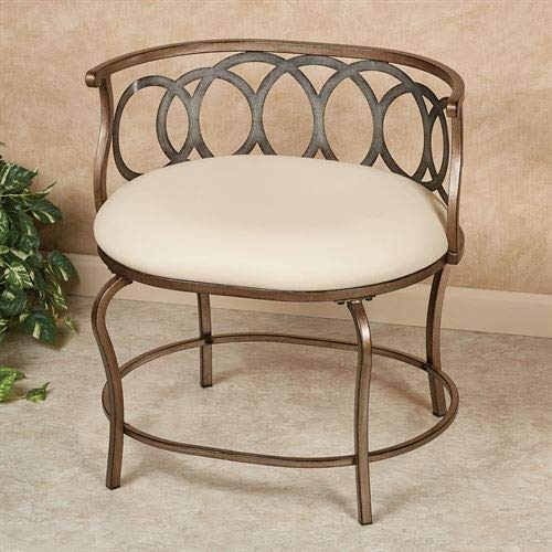 Hillsdale Furniture Vogue Vanity Chair Multi Metallic