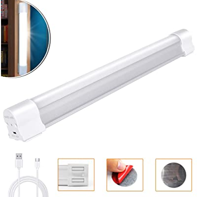 LETOUR Barra de luz LED magnética de trabajo 120 W 6000 lúmenes, 5 niveles regulables, linterna de camping recargable por USB, luz portátil de resistencia para 80 horas (LT-LTK120 120 W)
