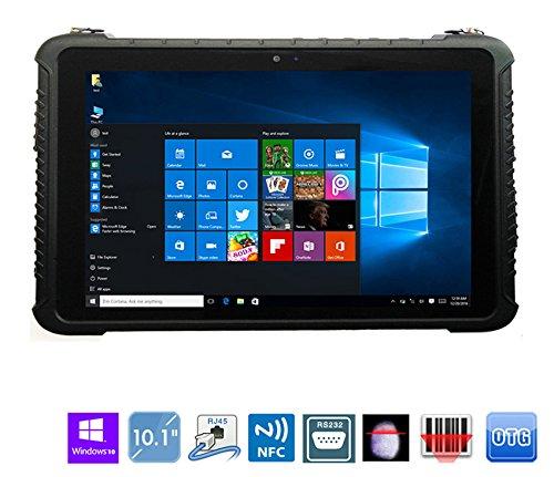 Industrial Rugged Waterproof Tablet PCs Windows 10 Home 10.1 inch Intel Quad Core/Ublox GPS GNSS/Ethernet RJ45/ COM 1 RS232 ()