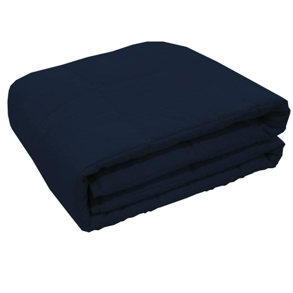 XILI 20lb Weighted Blanket for Adult,  Helps Reduce Stress and Anxiety, Great for Anxiety, ADHD, Autism, OCD, and Sensory Processing Disorder(60''x78'', 20lbs,Navyblue)
