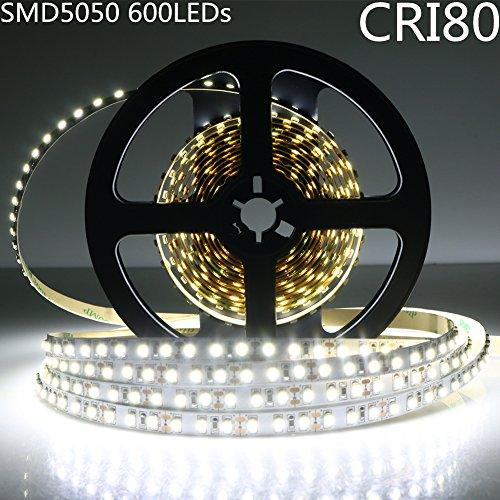 LightingWill LED Rope Lights CRI80 SMD5050 16.4Ft(5M) 600...