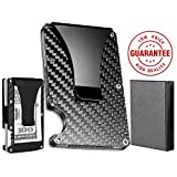 Credit Card Holder Wallet Carbon Fiber Minimalist Slim Money Clip Wallet for Men and Women