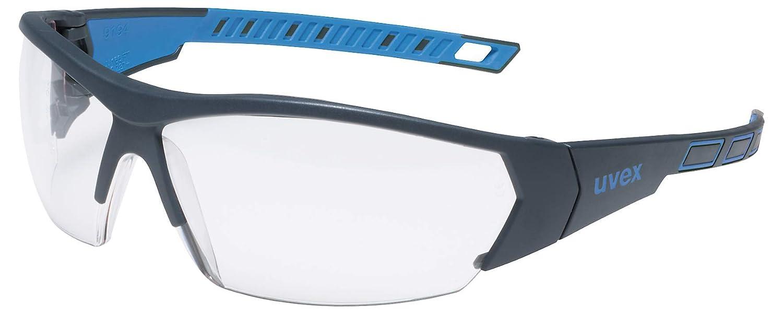 Gafas de seguridad uvex i-works - EN 166 170 - Antivaho y resistente a arañazos y químicos - Transparente / Azul