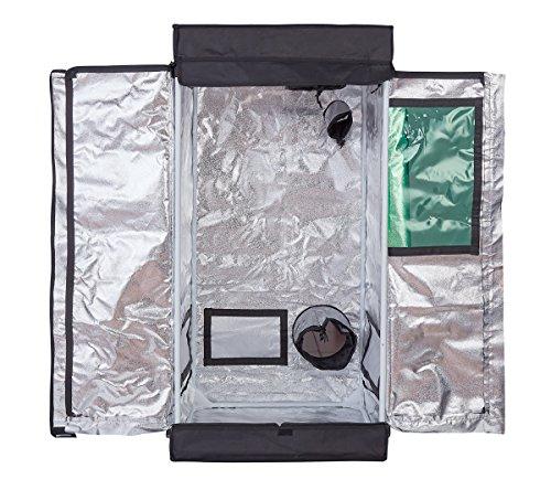 TopoLite 24''x24''x48'' w/T-door Grow Tent Dark Room for Hydroponic Indoor Planting (24''x24''x48'' T-Door/window) by TopoLite