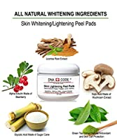 Magic Skin Lighten Brighten Peel Pads-Kojic Acid, Alpha Arbutin, Glycolic acid, Salicylic, Lactic Acid, Papaya, Pineapple, Argireline, DMAE