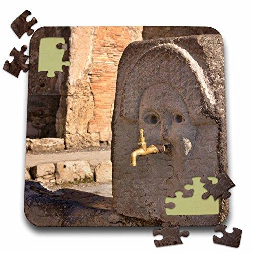 Fountains Gallery (Danita Delimont - Italy - Italy, Campania, Pompeii. Fountain on Via Stabia - EU16 BJA0111 - Jaynes Gallery - 10x10 Inch Puzzle (pzl_82060_2))