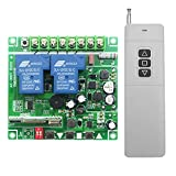 Fenteer DC 12V-48V Switch Module Receiver Garage Door Lamp Switch 3km Transmitter