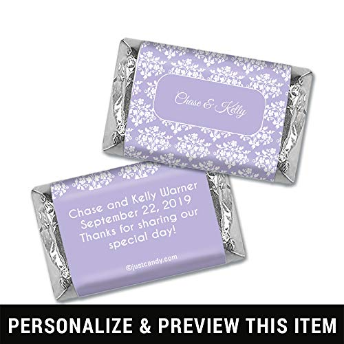 (Personalized Wedding Wrappers for Hershey's Miniatures Floral Lattice - Lavender (100 Count Wrappers))
