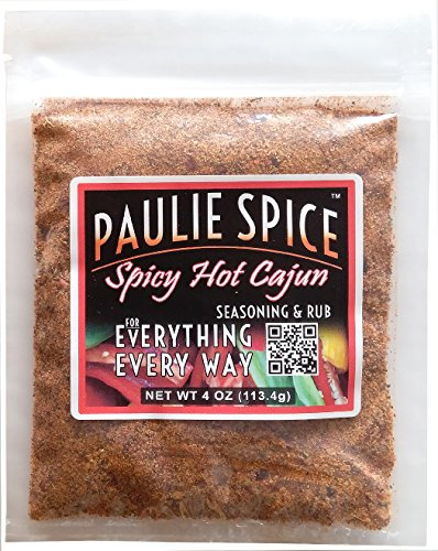Paulie Spice : Spicy Hot Cajun Seasoning and BBQ Rub - 4 oz (Best Grilled Pork Tenderloin Rub)