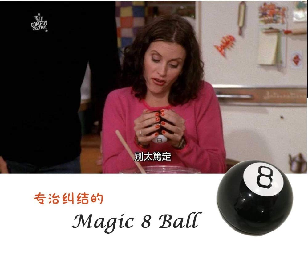 ZAMTAC New Retro Mystic Black 8 Magic Ball - Decision Making Fortune Telling Magic Toy Boxed -Loveful by ZAMTAC